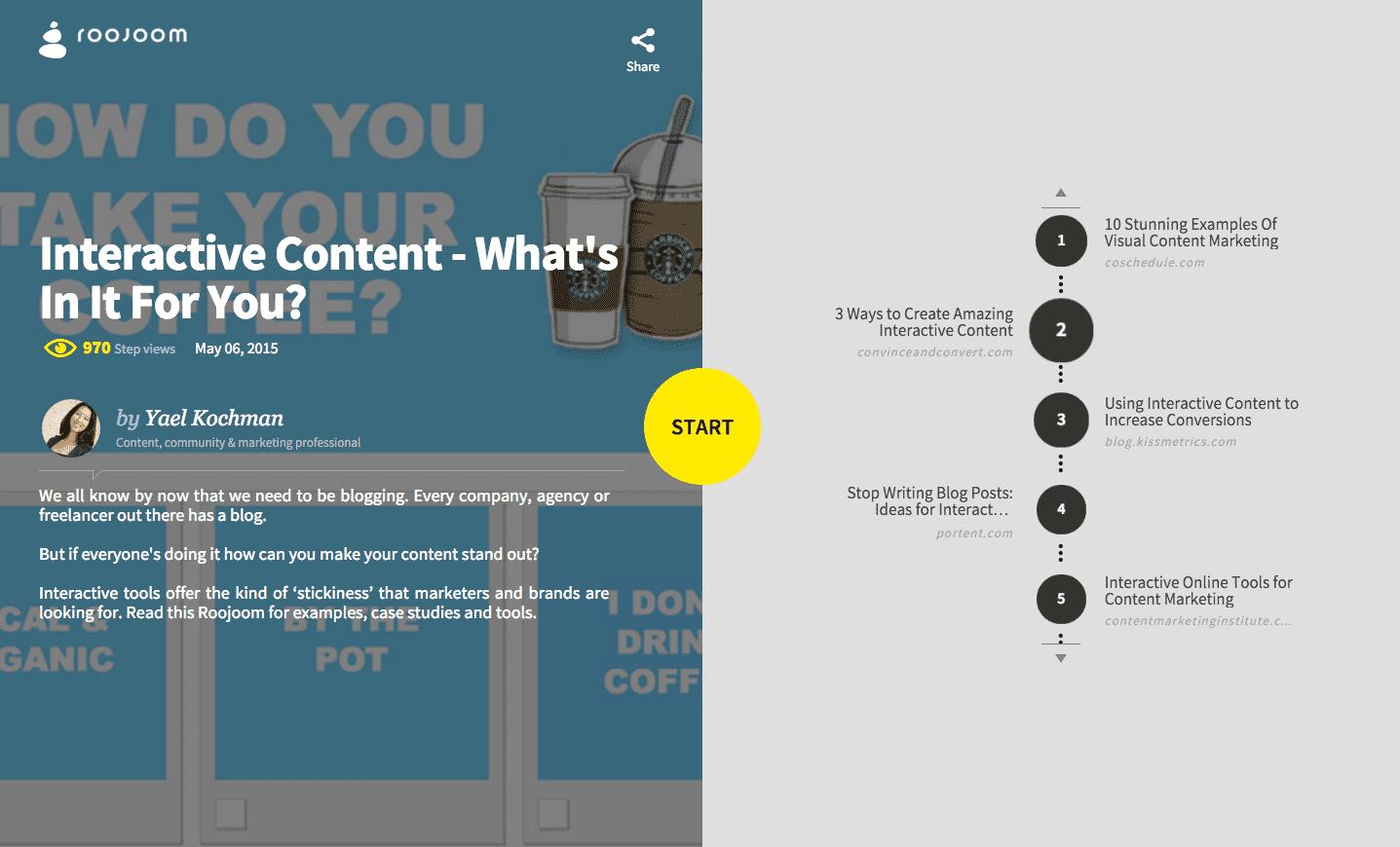 Best Interactive Content Tools - Roojoom